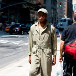 Vintage Khaki Jumpsuit, Madison Avenue