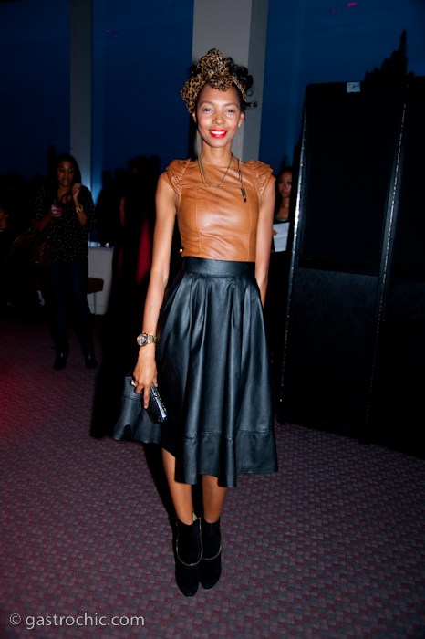 Leather Skirt and Top, Harlem's Fashion Row | Gastro Chic