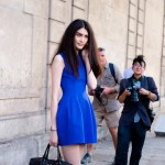 Sui He in Blue, Outside the Rochas Show