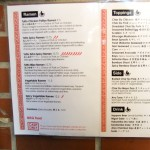 Menu, Totto Ramen