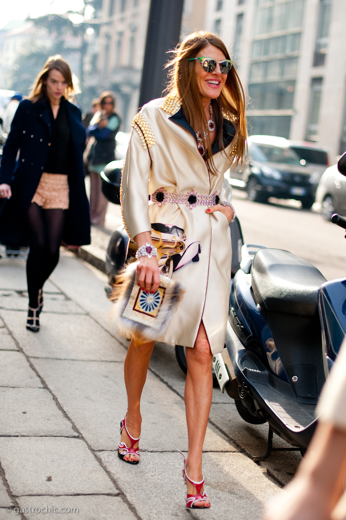 Over-the-Top Street Style from Milan: Anna Dello Russo, Hanne Gaby Odiele,More