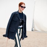 Taylor Tomasi Hill in Black and White Stripes