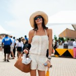 Ivory Romper and Wedge Sneakers, Veuve Clicquot Polo Match