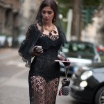 Black Lace Dress at Dolce & Gabbana