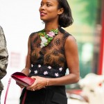 Shala Monroque in Black Lace - detail