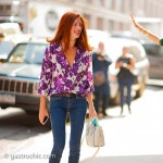 Taylor Tomasi Hill and Leandra Medine Photobombin