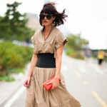 Belted Khaki Dress, Outside Prabal Gurung