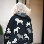 Black and White Print Sweater, Madison Avenue
