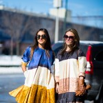 Catalina Zuluaga and Kika Vargas in VARGAS Dresses at Prabal Gur
