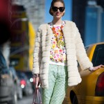 Pastel Prints and Valentino Bag, Outside Derek Lam