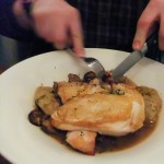 Chicken with Buckwheat Dumplings, Runner & Stone
