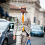 Gingham Suit, Outside Gucci