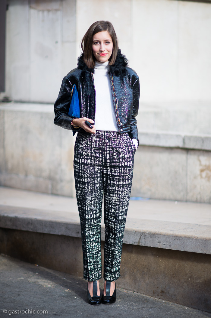 Black and White Print Pants, Outside Rochas | Gastro Chic