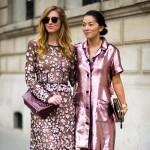 Chiara Ferragni and Tina Leung at Chloe