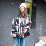 Printed Parka and Boyfriend Jeans, Outside Etro
