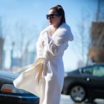Winter White, Outside Prabal Gurung