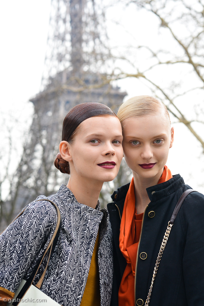 Irina Kravchenko and Nastya Kusakina at Miu Miu FW2013