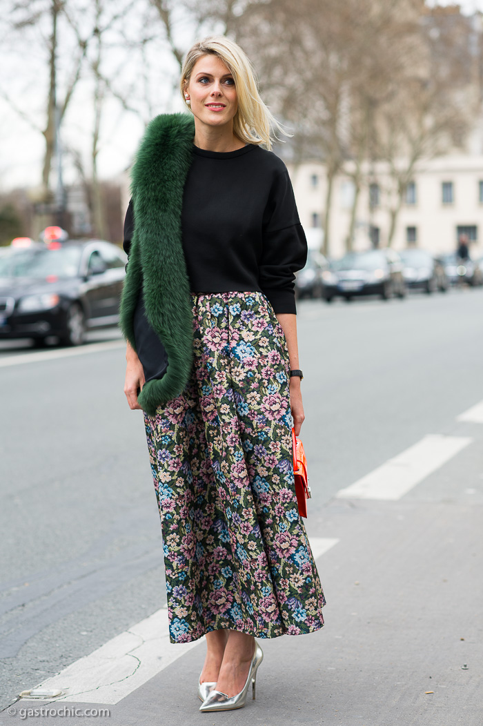 Red Valentino Skirt, Outside the Dior Show