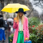 Colorblocking in the Rain, Outside Carven