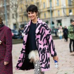 Pink Squiggle Coat, Outside Just Cavalli