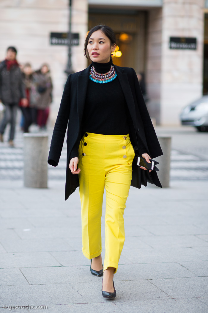 Yellow Sailor Pants, Outside Comme des Garcons
