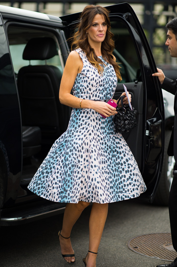Leopard Dress Outside Dior Cruise