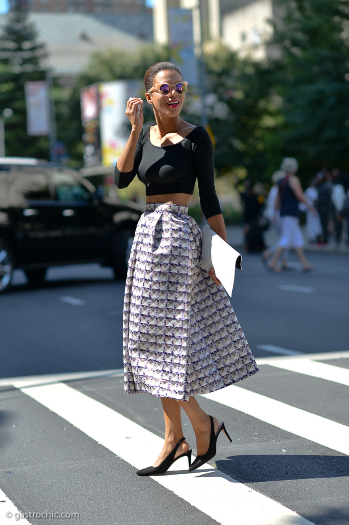 Maxi Skirt and Crop Top, Outside BCBG