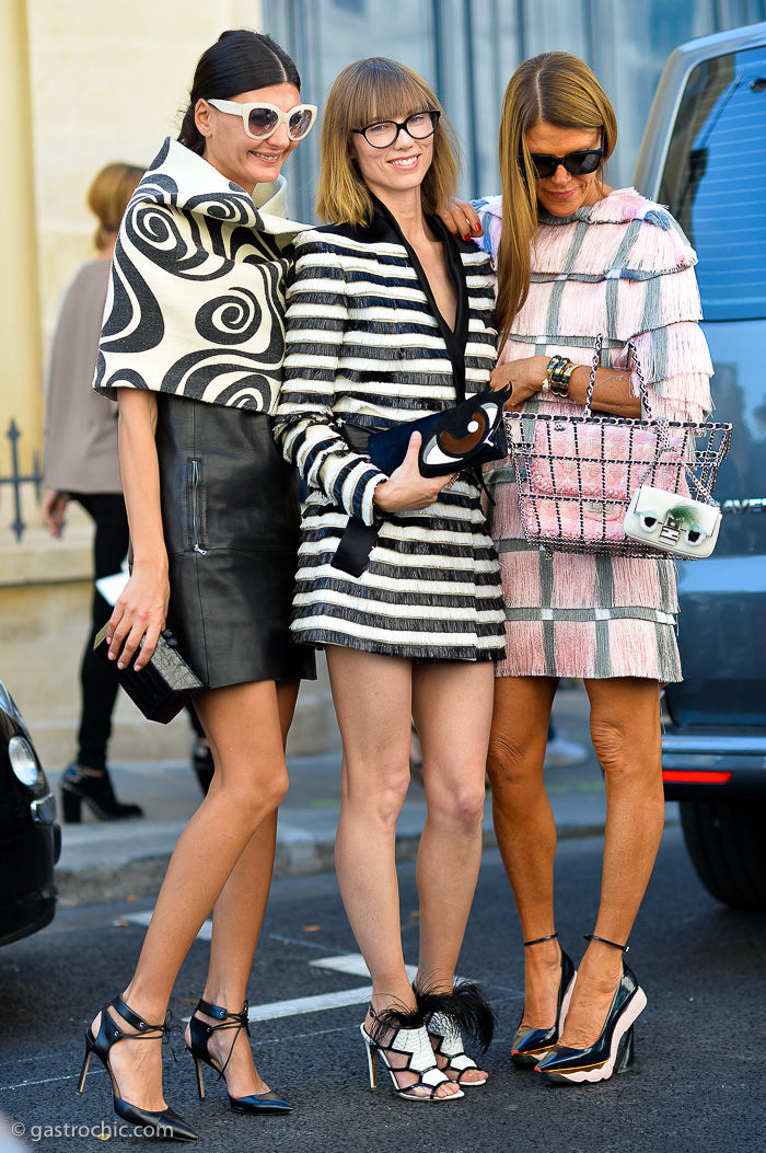 Three Street Style Stars, Outside Dior SS2015