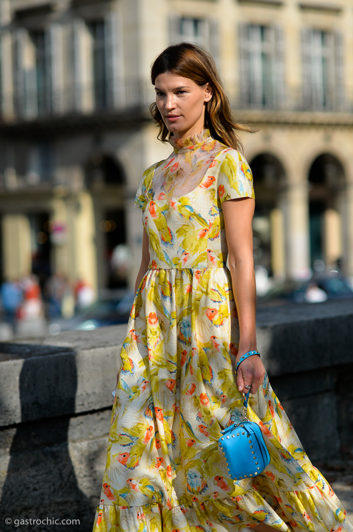 Hanneli Mustaparta in Valentino, Outside the Show SS2015