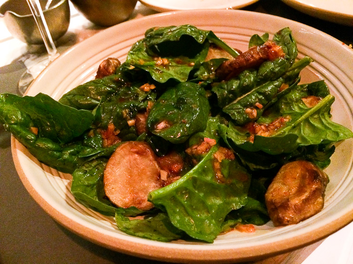 Roasted Sunchoke Salad, Chefs Club