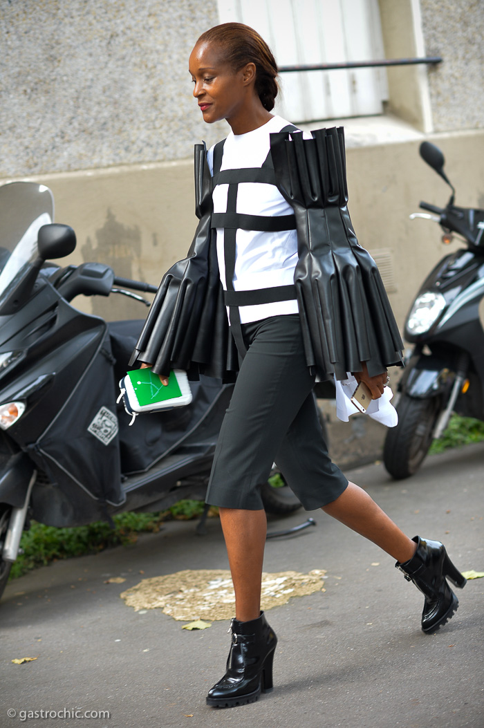 Michelle Elie in Comme des Garcons, Outside Kenzo SS2015