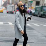 Gray Coat and Beige Hat, Madison Avenue