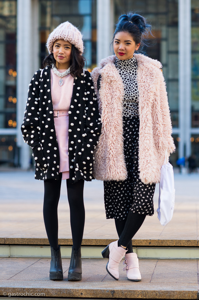 Bianca Venerayana and Danielle Roche at Rebecca Minkoff FW2015