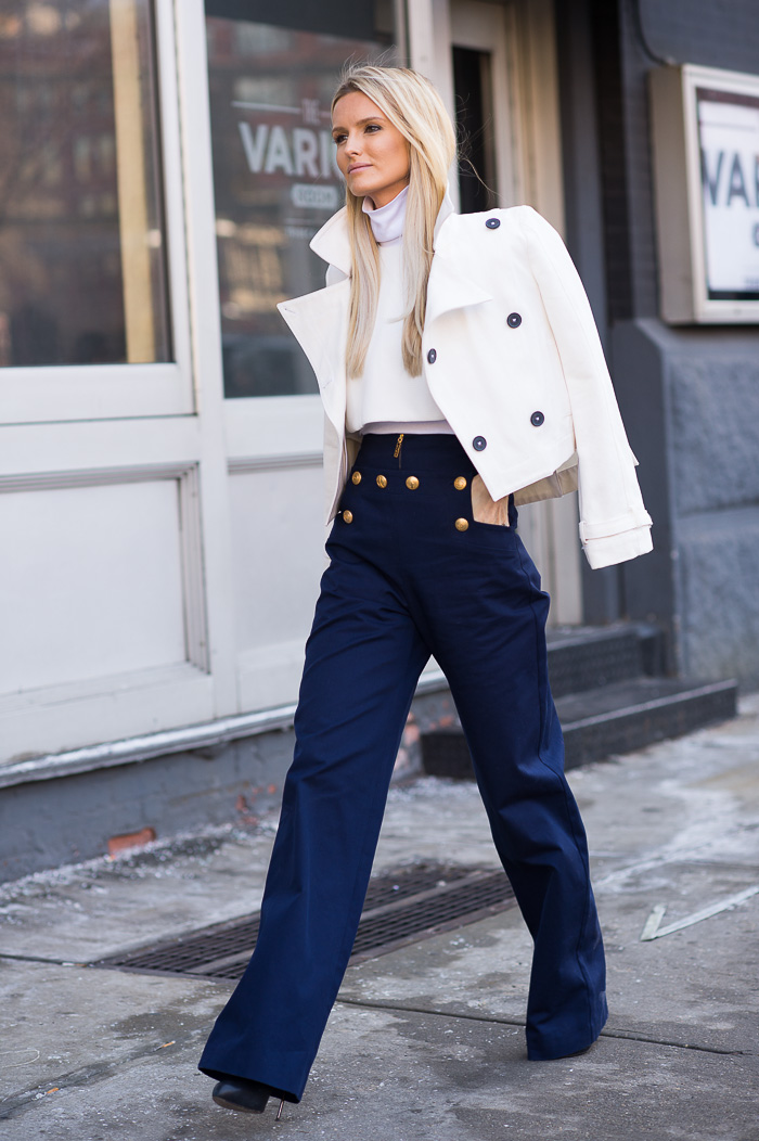 In The Navy Kate Davidson Hudson At Michael Kors Fw2015 Gastro Chic
