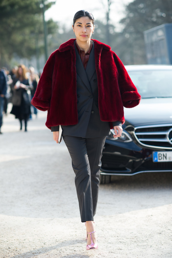 Caroline Issa at Louis Vuitton FW2015