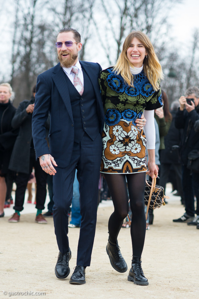 Justin O'Shea and Veronika Heilbrunner at Valentino FW2015