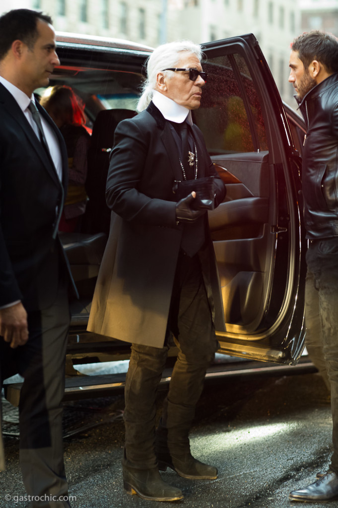 Karl Lagerfeld at Chanel Metiers d'Art SS2015