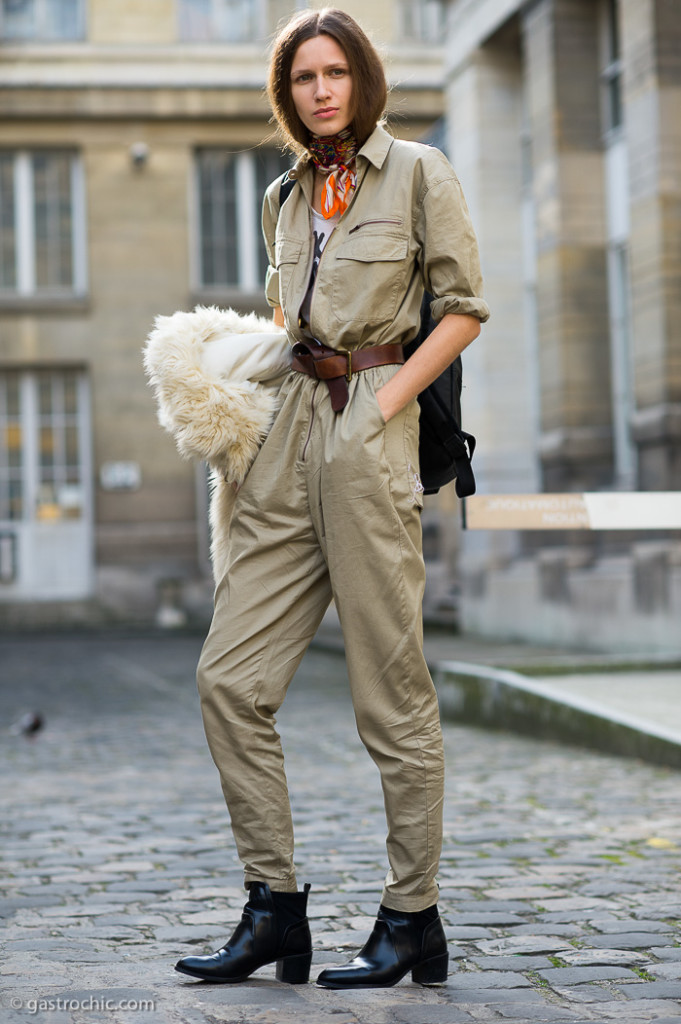 Khaki Jumpsuit, Outside Haider Ackermann FW2015