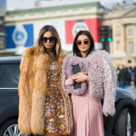 Two Maximalist Looks, Outside Elie Saab FW2015