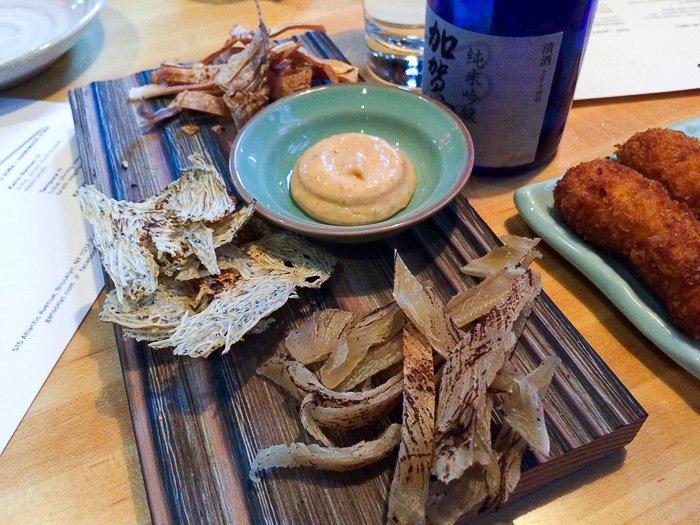 Dried Skate, Baby Anchovy and Squid, Ganso Yaki Brooklyn