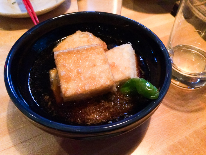 Deep Fried Tofu in Daishi Broth, Ganso Yaki