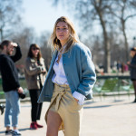Blue Jacket and Khaki Skirt, Outside Carven FW2015