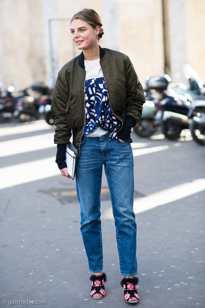 Bomber Jacket and Print Top, Outside Cedric Charlier FW2015