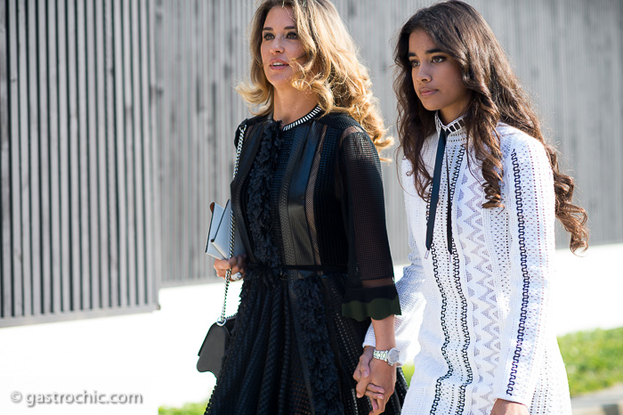 Mother Daughter Duo, Outside Louis Vuitton FW2015