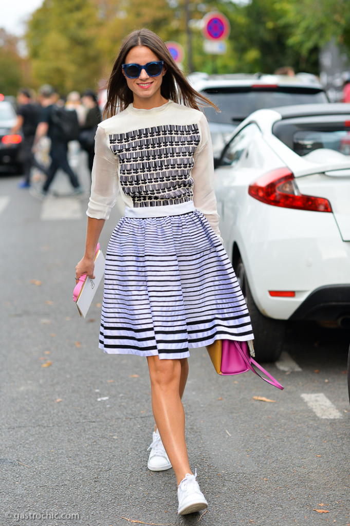 Skirt and Sneakers, Outside Chloe SS2015