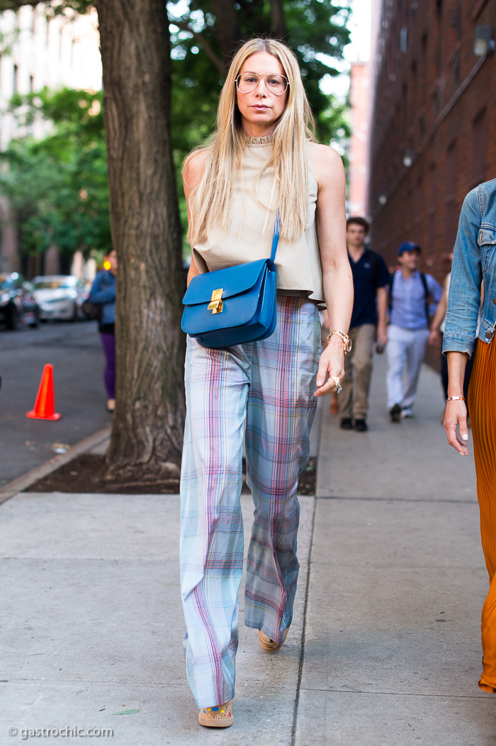 Jennifer Fisher in a 70s Look, Outside Stella McCartney Resort 2016