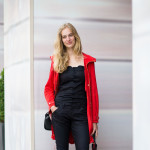 Model in Black and Red, Paris Couture Week