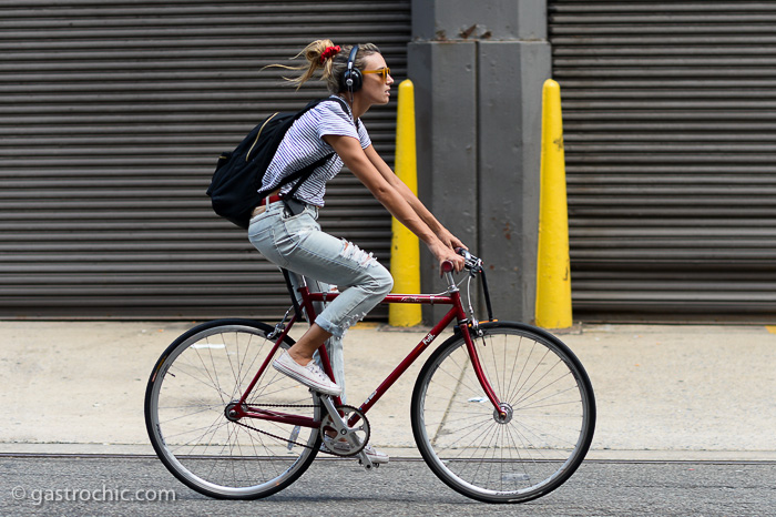 Girl on a Bike, New York City