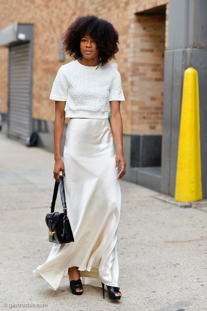White Silk Skirt, Outside Ralph Lauren SS2015