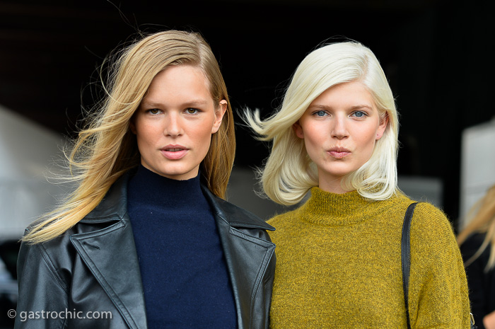Anna Ewers and Ola Rudnicka at Ralph Lauren SS2015
